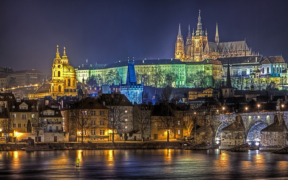 Charles Bridge Prague Cityscape