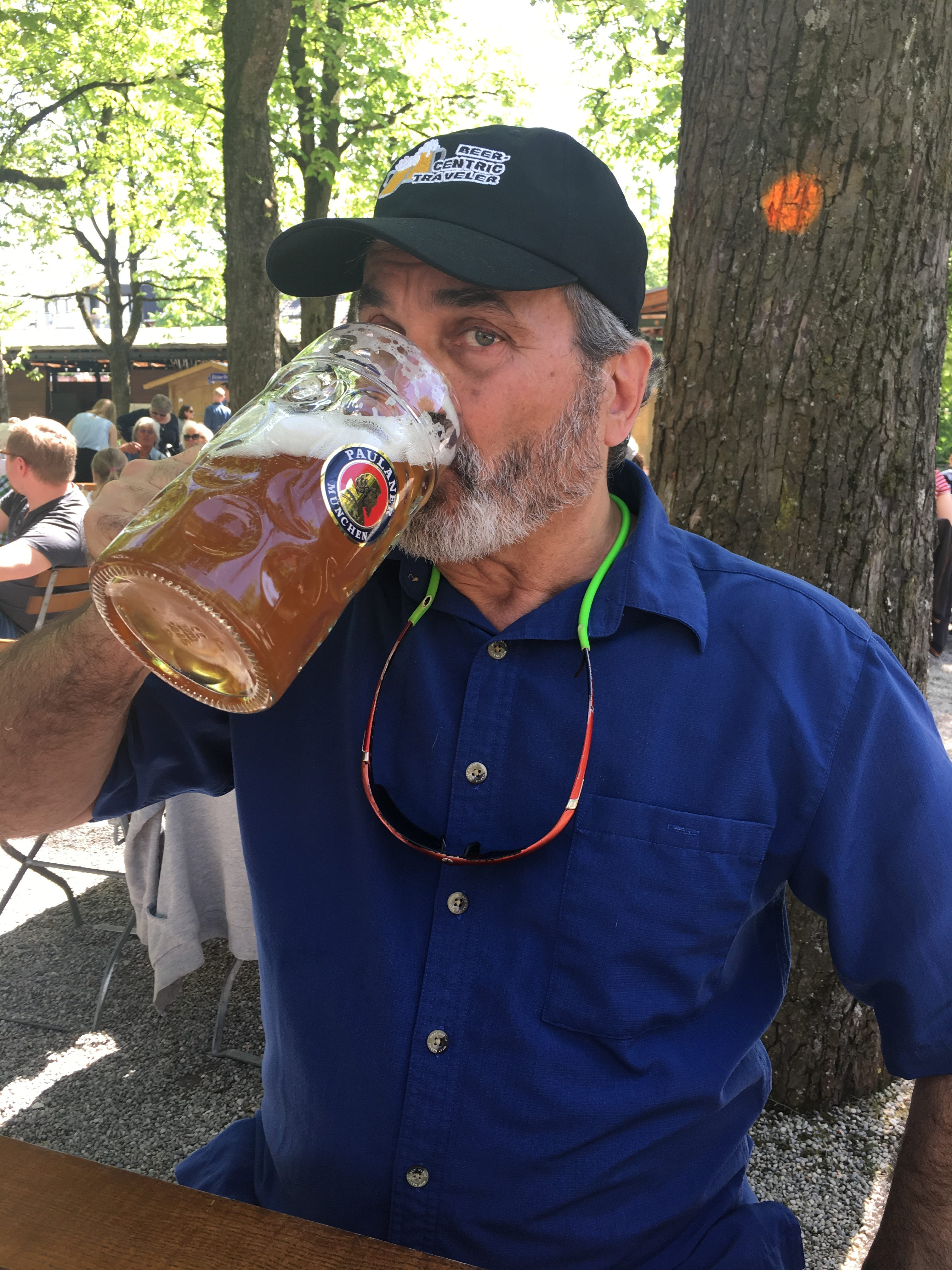 Drinking in Munich Beer Garden