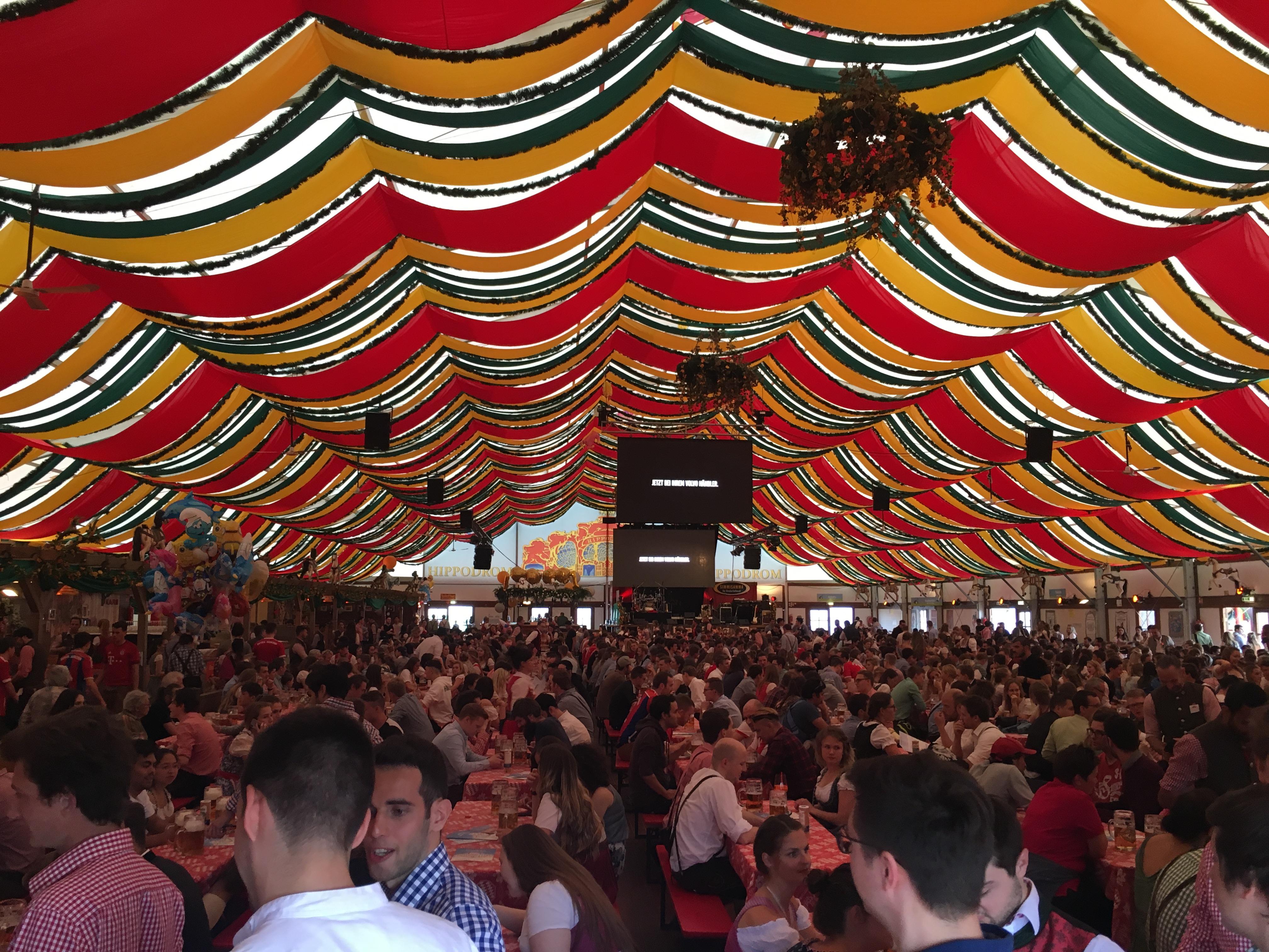 Inside Hippodrome Beer Tent